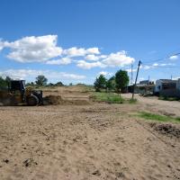 Comenzó el movimiento de suelo para la construcción del Centro Integrador Comunitario de Monte Hermoso